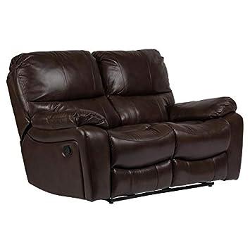Astounding Amazon Com Corvallis Leather Look Dual Reclining Loveseat Creativecarmelina Interior Chair Design Creativecarmelinacom