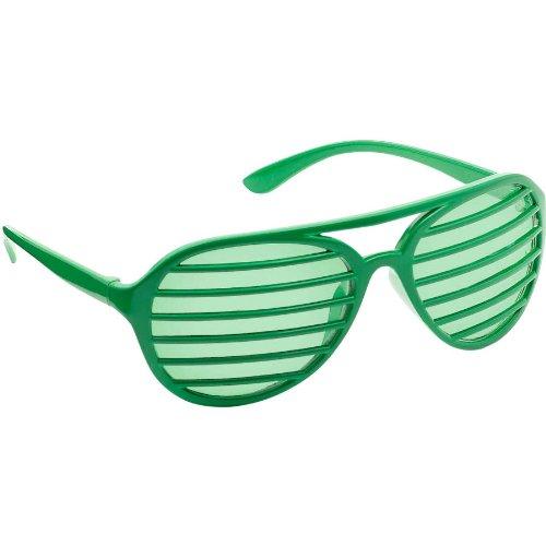 Amscan Slot Eyeglasses, Party Accessory, Green]()