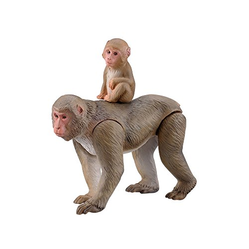 Japanese macaques (including a baby monkey) Animal Toy Action Firures (Macaque Monkey)