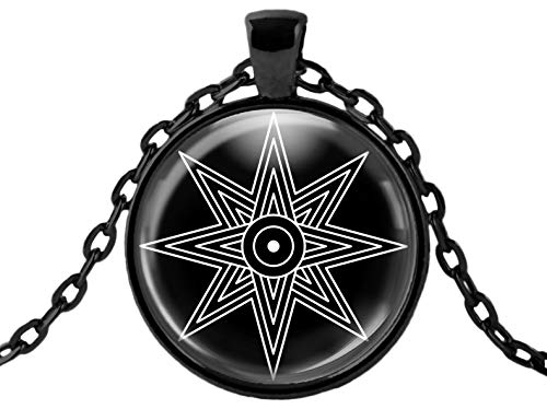 WitchandRich Star of Venus Goddess Ishtar Inanna Love Sex Magic Sigil Black Pendant Necklace
