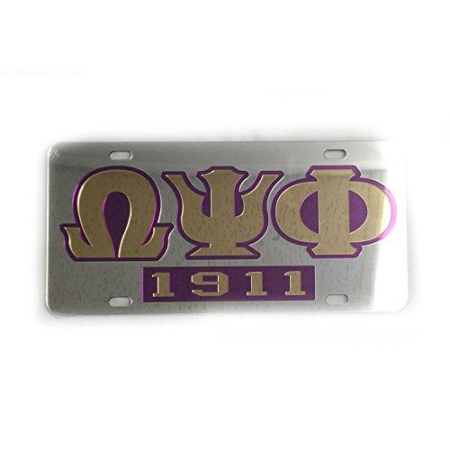 Omega Psi Phi License Plate - 6