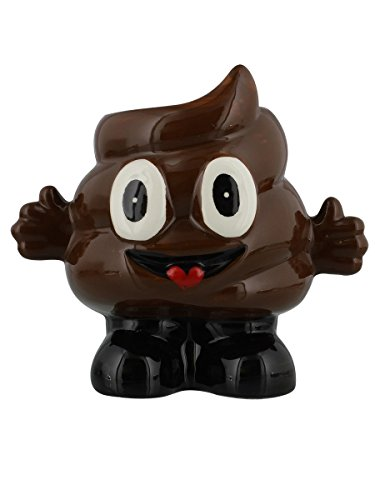 Emoji Smiling Poop Shaped Emoticon Character Ceramic (Tongue Swirl Emoji)