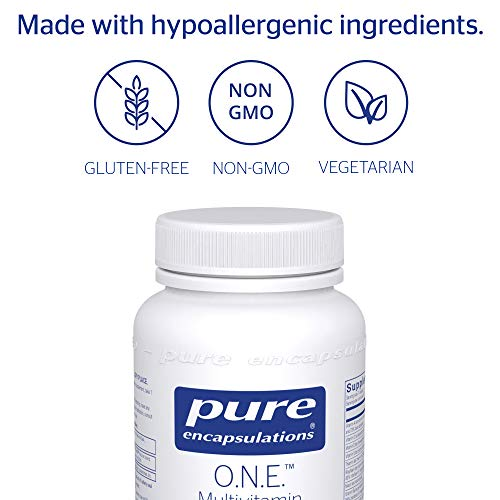 Pure Encapsulations - O.N.E. Multivitamin - Once Daily Nutrient Essentials with Metafolin L-5-MTHF and Sustained Release CoQ10 - Hypoallergenic Dietary Supplement - 60 Capsules by Pure Encapsulations (Image #3)