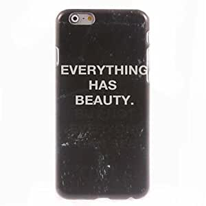 PEACH Everything Has Beauty Design Hard Case for iPhone 6 Plus