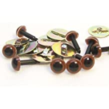 Sassy Bears 4.5mm Chestnut Brown Safety Eyes for Bear, Doll, Puppet, Plush Animal and Craft - 10 Pairs by Sassy
