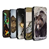 eSwish PU Leather Wallet Flip Case/Cover for Huawei P Smart/Multipack (20 Pck) Design/Wildlife Animals Collection