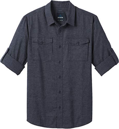 (prAna Men's Merger Long Sleeve Shirt, Nautical, Large)