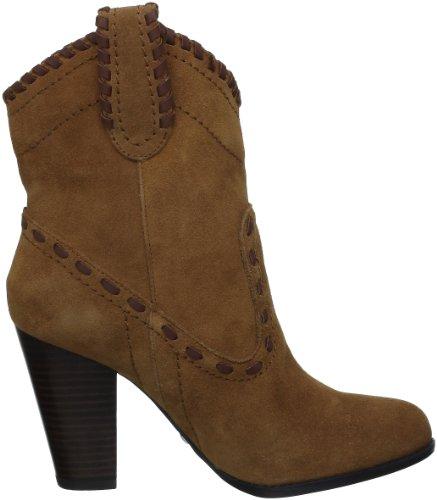 Buffalo 411-10173 - botas de cuero mujer marrón - Braun (Cow Suede Tan 96)