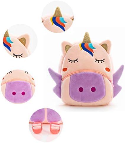 AM/_ Kids Mini Plush Cartoon Schoolbag Backpack Children Baby Girl Boy Bag Deluxe