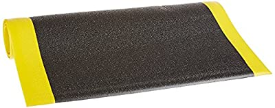 """Bertech Anti Fatigue Vinyl Foam Floor Mat, 3/8"""" Thick, Textured Pattern, Bevelled on All Four Sides (Made in the USA)"""