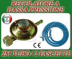 Regulador de baja presión para cocinas, estufas, barbacoa a gas + 2 m. de tubo + 2 abrazaderas: Amazon.es: Hogar