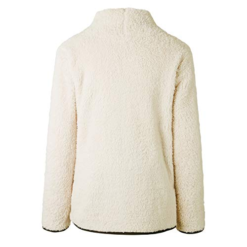 Di Con A White Manica Cerniera Wefchogvr Lunga Pile In Pullover Felpa 1C5xqAw4