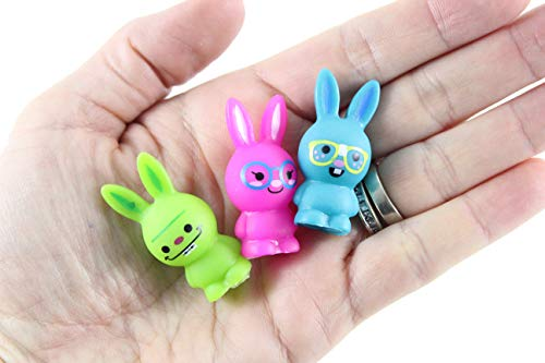 Curious Minds Busy Bags 12 Cute Bunny Pencil Toppers - Easter - Small Novelty Prize Toy - School Supplies - Party Favors - Gift - Bulk 1 Dozen