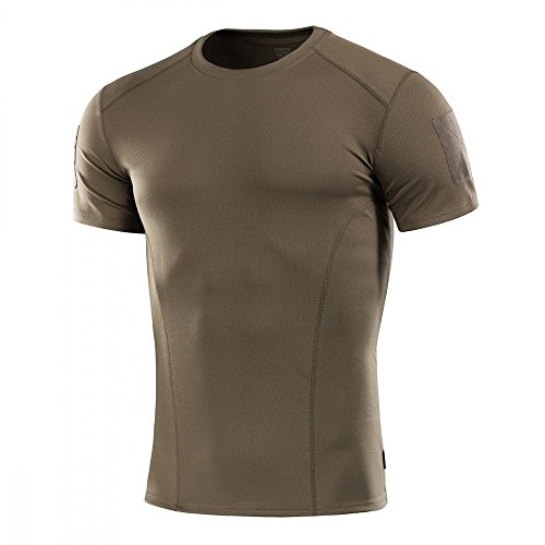 - M-Tac Mens Tactical Shirt Athletic T-Shirt Sport Training Military Short Sleeve (Olive, XXL)