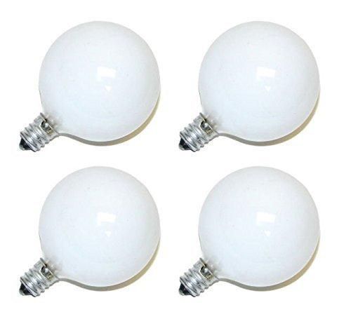 Philips DuraMax 40-Watt G16.5 Decorative Globe E12 Candelabra Base Light Bulbs, Frosted White (4 Pack) (Candelabra E12 Frosted)