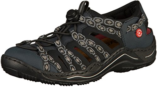 Casuale Navy Rieker alla Moda Donna slip scarpe on L0577 Pantofola pg61Uq
