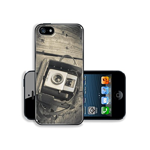MSD Premium Apple iPhone 5 iPhone 5S Aluminium BackplateSnap Case An old camera in its original vintage leather case on a wooden background filtered Image ID 27336171 (Jelly Lens Iphone Filter compare prices)