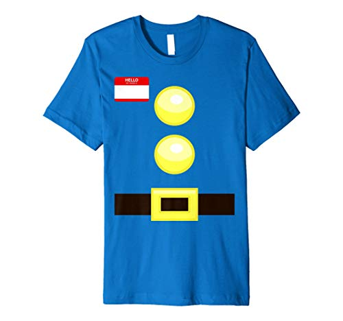 Dwarf Halloween Group Costume Idea T-Shirt with name plaque
