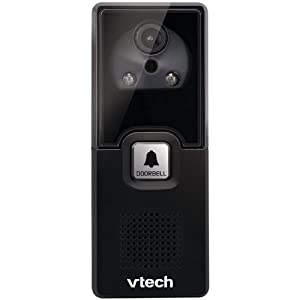 VTech IS741 Accessory Audio/Video Doorbell Camera, Black | Requires a VTech IS7121 Series Phone to Operate
