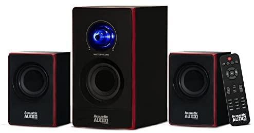 Acoustic Audio by Goldwood 2.1 Bluetooth Speaker System 2.1-Channel Residence Theater Speaker System, Black (AA2103)