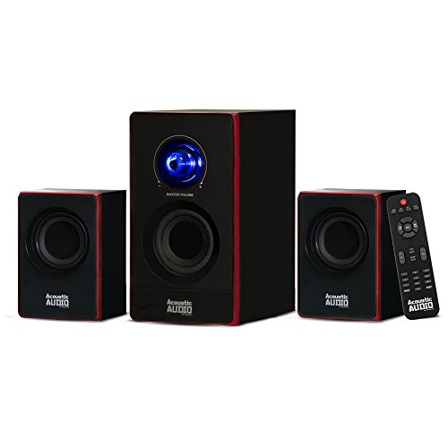 Acoustic Audio by Goldwood 2.1 Bluetooth Speaker System 2.1-Channel Home Theater Speaker System, Black (AA2103) (Surround Sound System)