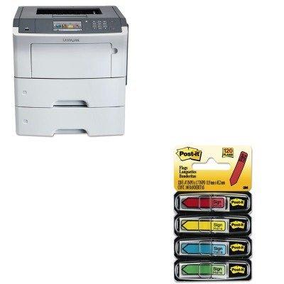 KITLEX35S0500MMM684SH - Value Kit - Lexmark MS610de Laser Printer (LEX35S0500) and Post-it Arrow Message 1/2amp;quot; Flags (MMM684SH)