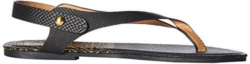 Qupid Women's Thong Flat Sandal Black uXtZr