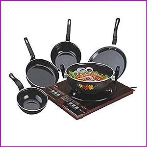 Flixbloom Set of 5 Pcs Induction Base Induction Bottom Cookware Set