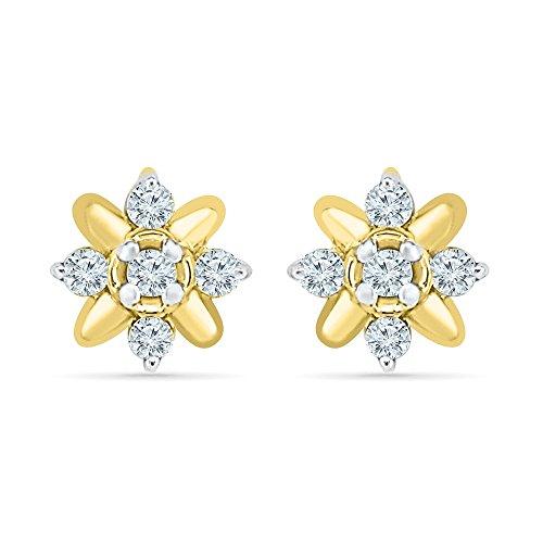 Yellow Gold Estate Earrings - 9