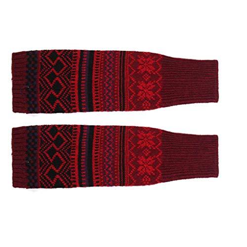 zhibeisai Vrouwen Winter beenwarmers Cable gebreid Long Gebreide Lange Boot Boot Socks Bohemen Haak Voetovertrek zoals…