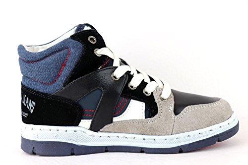 REPLAY Sunderland High-Top Sneaker Boy Black/Navy ** NICE LOOK *** BEST PRICE **