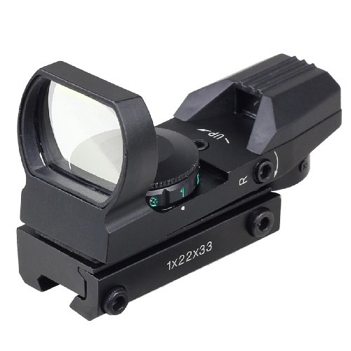 11 Reflex Sight - Very100Holographic Red Green Dot Projected Reflex 4 Reticle Sight Scope w/ Mount (11mm)