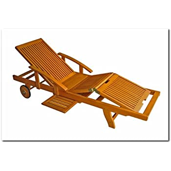 This Item International Caravan TT SL 012 A IC Furniture Piece Royal Tahiti Outdoor  Chaise Lounge With Multi Sectional Deck