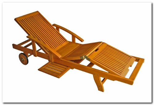 International Caravan TT-SL-012-A-IC Furniture Piece Royal Tahiti Outdoor Chaise Lounge with Multi Sectional Deck