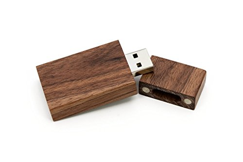 SameDayFlash 1 32GB USB 2.0 Wooden Walnut Drive- Single Item - Grove Stick Design