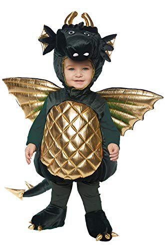 Underwraps Kid's Toddler's Plush Dragon Belly Babies Costume - Green Childrens Costume, Green, Large ()