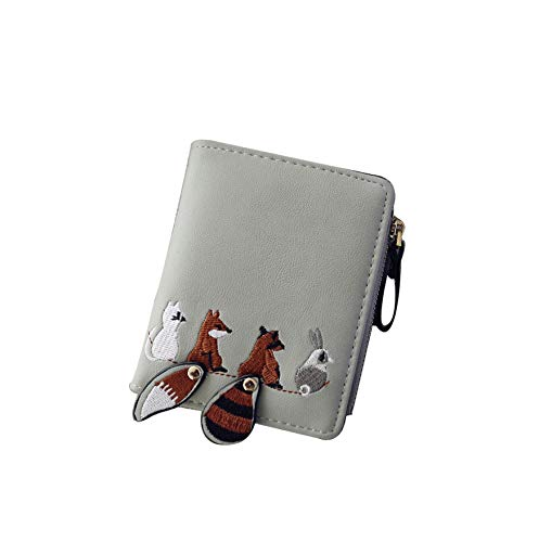 Fashion Cute Women Wallet Lovely Cartoon Animals Small Coin Zipper Purse Card Package Wallet For Credit Cards Card ()