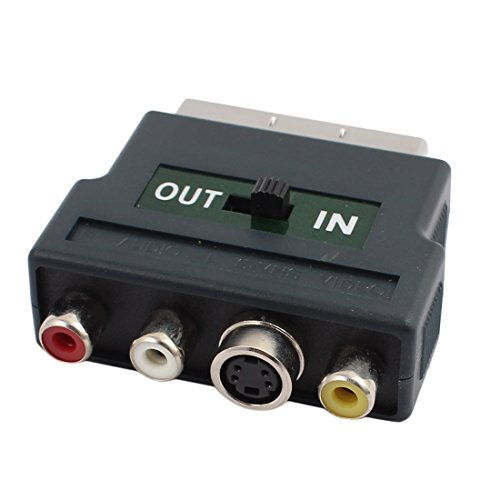 Aexit in-Out Switch Cables & Interconnects RGB Scart Male to 3 RCA S-VHS AV TV Female Firewire Cables Adapter Connector