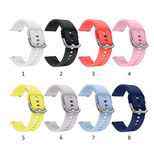 20mm Quick Release Watch Band Compatible With Samsung Galaxy/Gear  Sport/Huawei/Garmin Vivoactive 3 Music/Asus/Ticwatch Smart Watch, Silicone