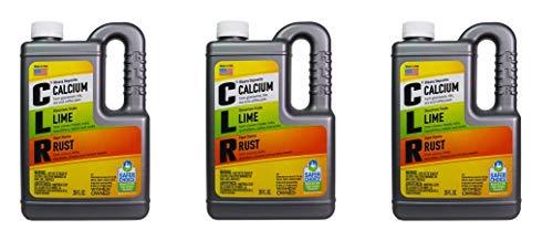 CLR Calcium, Lime & Rust Remover, Biodegradable, 28 Oz Bottle (3) (Glass Bowls Concord)