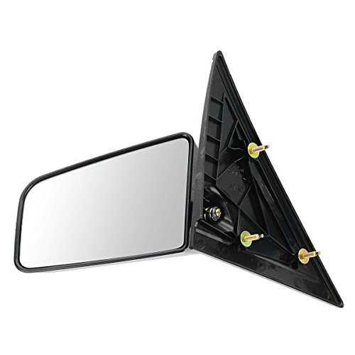 S15 Drivers (3x5 Manual Mirror Left LH Driver Side for GMC S-15 Chevy S10 Pickup Truck)