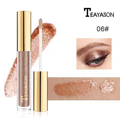 CYCTECH 8 Colors Liquid Eyeliner Waterproof Long Lasting Eyeshadow Metallic Glitter Shiny Smoky Eye Shadow (F)