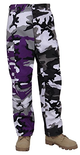 City Style Ankle Pant (Rothco Two-Tone BDU Pants, Purple City Camo, Small)