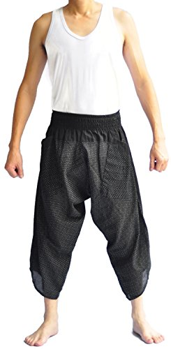 Unisex Tone Thai Fisherman Pants Yoga Trousers Free Size Cotton - Thai Pants Fisherman Pattern