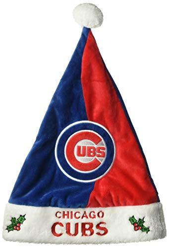 FOCO MLB Chicago Cubs Men's Basic Santa Hat, One Size, Team Color