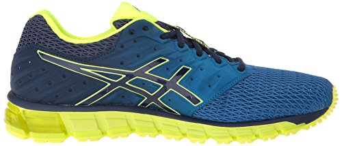 Asics hombres de gel-quantum 180 2 Zapatilla de Running Imperial/Safety Yellow/Indigo Blue