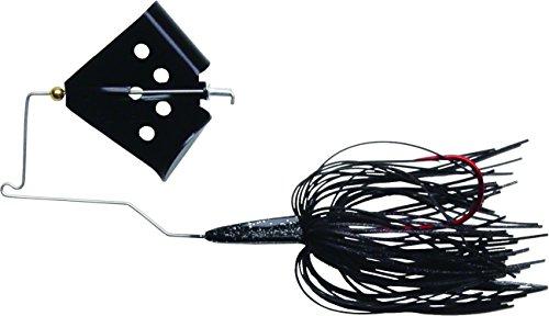 Megastrike Cavitron Buzzbait (3/8-Ounce, Black Blade Black Skirt) (Tackle Buzzbait Bait)