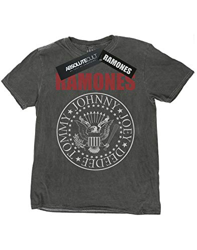 Cult shirt T Ramones Homme Lavé Red Charbon Text Seal Absolute pxqdSvwUq