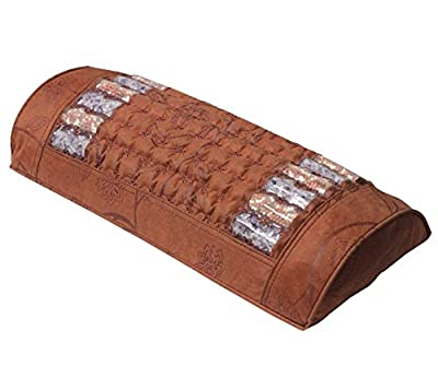 Ereada Far Infrared Amethyst Mat Pillow - High End Negative Ion and FIR Pillow - Jewelry Grade Natural Amethyst Gems - Memory Foam - Luxury Suede