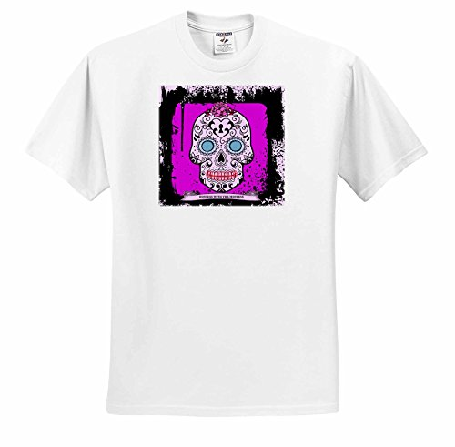 rinapiro-sugar-skull-hostess-with-the-mostess-day-of-the-dead-hot-pink-unique-design-t-shirts-youth-